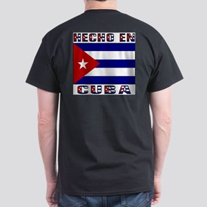 Hecho en Cuba Back Dark T-Shirt