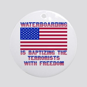 Waterboarding Ornament (Round)
