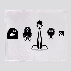 Cute Monsters Throw Blanket