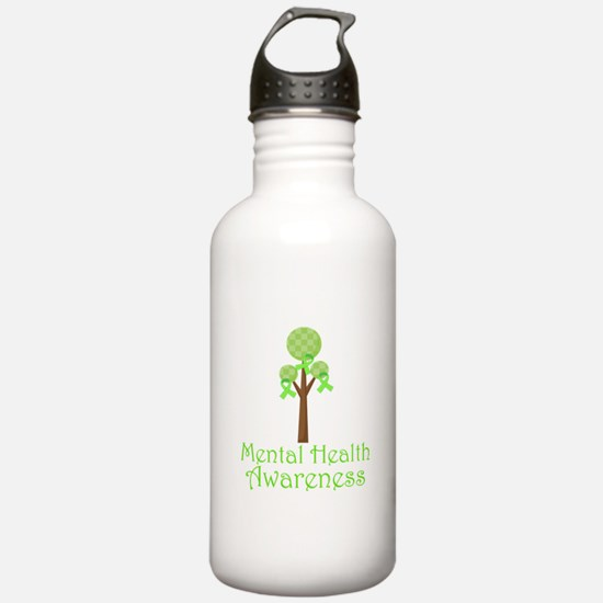 Mental Health Awareness Tree Water Bottle