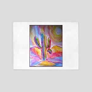 Saguaro cactus, southwest art 5'x7'Area Rug