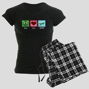 Peace Love Iguanas Women's Dark Pajamas