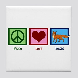 Peace Love Foxes Tile Coaster