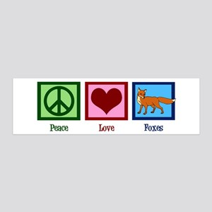 Peace Love Foxes 20x6 Wall Decal