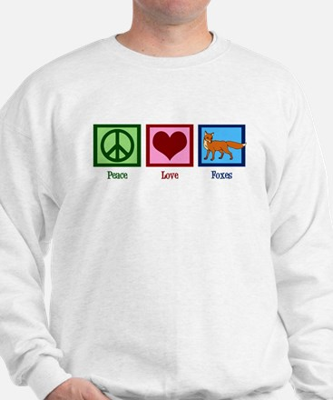 Peace Love Foxes Sweatshirt