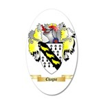 Chagne 35x21 Oval Wall Decal