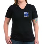 Chaffne Women's V-Neck Dark T-Shirt
