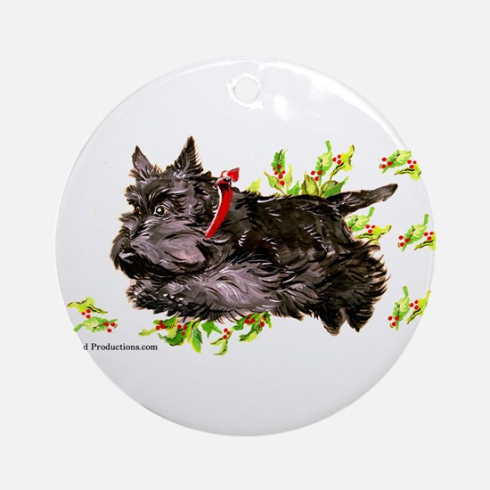 Great Leaping Scottie! Ornament (Round)