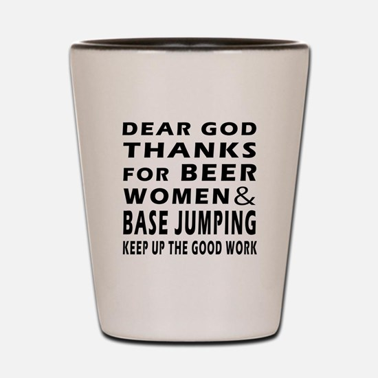 Beer Women And Base Jumping Shot Glass