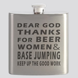 Beer Women And Base Jumping Flask