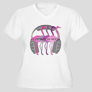 Flamingos Rock Plus Size T-Shirt