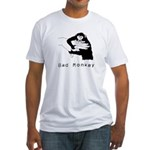 Monkey Day bad monkey fitted t-shirt