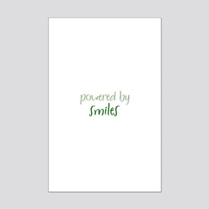 Powered By smiles Mini Poster Print