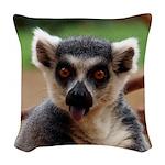 Lemur Woven Throw Pillow