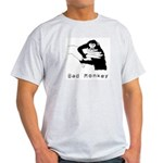 Monkey Day bad monkey Ash Grey T-Shirt