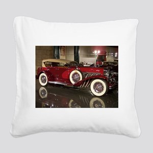Big Red Car Square Canvas Pillow