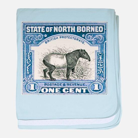 Antique 1904 North Borneo Tapir Postage Stamp baby