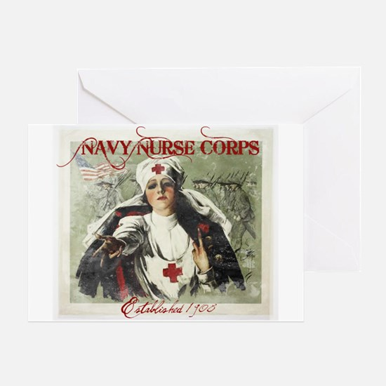 Vintage Navy Nurse Corps 1908 Greeting Card