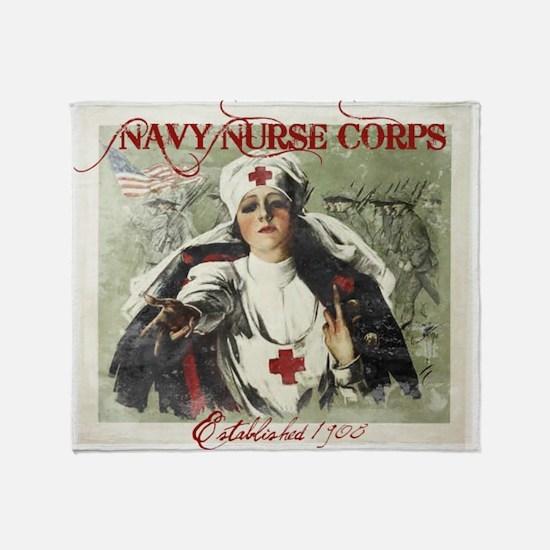 Vintage Navy Nurse Corps 1908 Throw Blanket