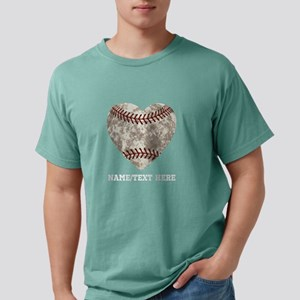 Baseball Love Personaliz Mens Comfort Colors Shirt