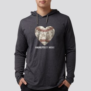 Baseball Love Personalized Mens Hooded Shirt