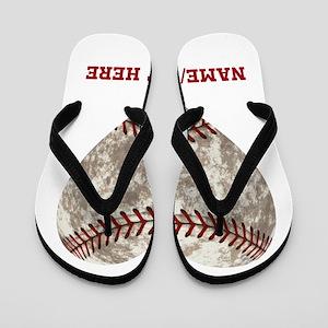 Baseball Love Personalized Flip Flops
