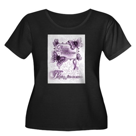 Lupus ~ Praying for a Cure Plus Size T-Shirt