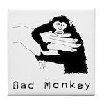 Monkey Day bad monkey Tile Coaster