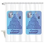 Two banners Shower Curtain