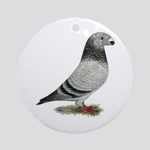 Show Racer Grizzle Pigeon Ornament (Round)