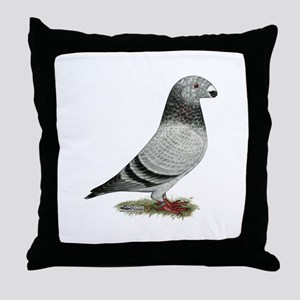 Show Racer Grizzle Pigeon Throw Pillow