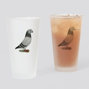 Show Racer Grizzle Pigeon Drinking Glass