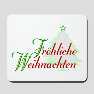 GERMAN MERRY CHRISTMAS Mousepad