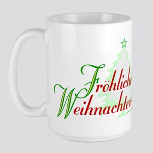 GERMAN MERRY CHRISTMAS Large Mug