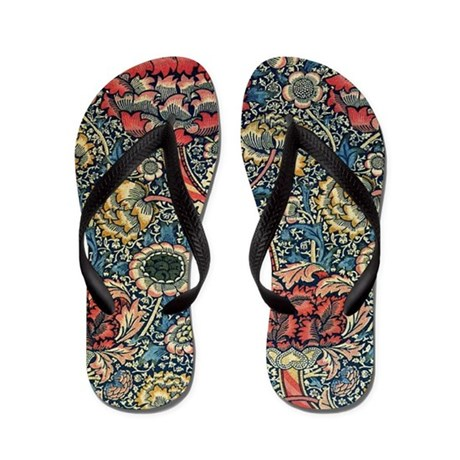 Wandle Design wandle design by william morris flip flops by fineartdesigns