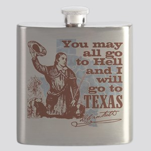 Davys Gone To Texas Flask