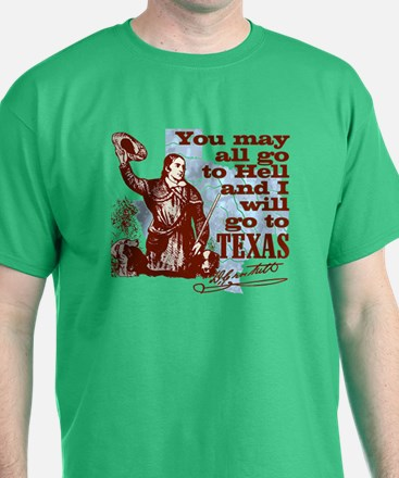 Davys Gone To Texas T-Shirt