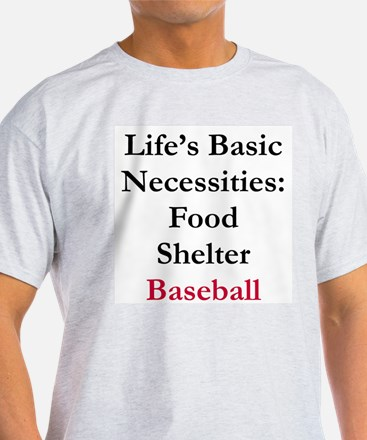 Baseball Ash Grey T-Shirt