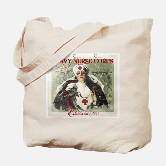 Navy Nurse Corps Vintage Red Tote Bag