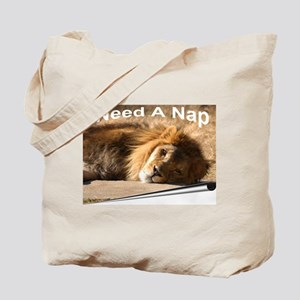African Lion Needs A Nap Tote Bag