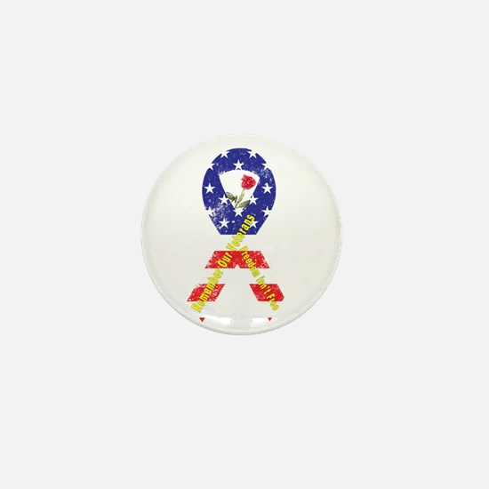 Remember Our Veterans Mini Button