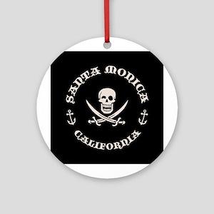 Santa Monica Pirate Ornament (Round)