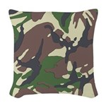 Camouflage Woven Throw Pillow