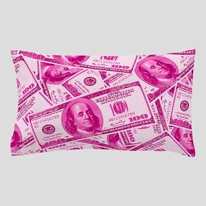 Pink Hundred Dollar Bill Pattern Pillow Case