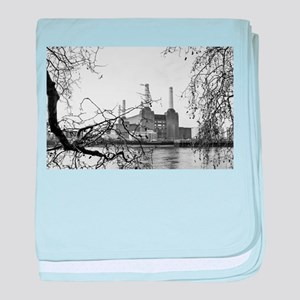 Battersea Power Station baby blanket