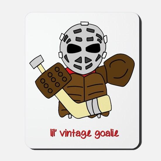 Lil Vintage Hockey Goalie Mousepad