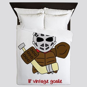 Lil Vintage Hockey Goalie Queen Duvet