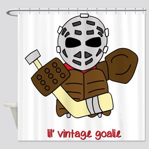 Lil Vintage Hockey Goalie Shower Curtain