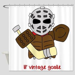 Lil Vintage Hockey Goalie Shower Curtain