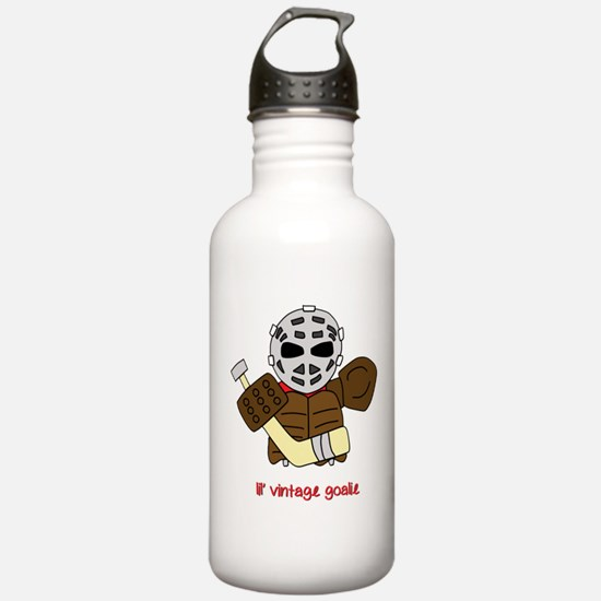 Lil Vintage Hockey Goalie Water Bottle